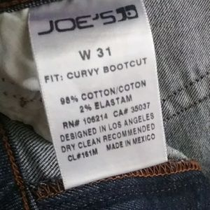 "Joe's Jeans Jeans - *Like New* Joe's Jeans Dark ""Curvy Bootcut"" Sz 31"